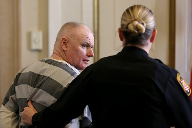 """Ian Woods, pictured, Friday, Oct. 19, 2018, in court, was sentenced Thursday to three years of probation after """"pleasing himself,"""" in the bedroom of an Anderson Township home prosecutors said he burglarized."""