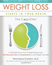 CogniDiet book cover -- After facing a 25-30 pound weight gain, increased cholesterol, constant fatigue and a diagnosis of ovarian cancer, Veronique Cardon, a resident of Skillman, took her experience as an executive in the pharmaceutical business and established the Cardon Brain and Wellness Institute, and a new approach to health and weight control called the CogniDiet® Program.