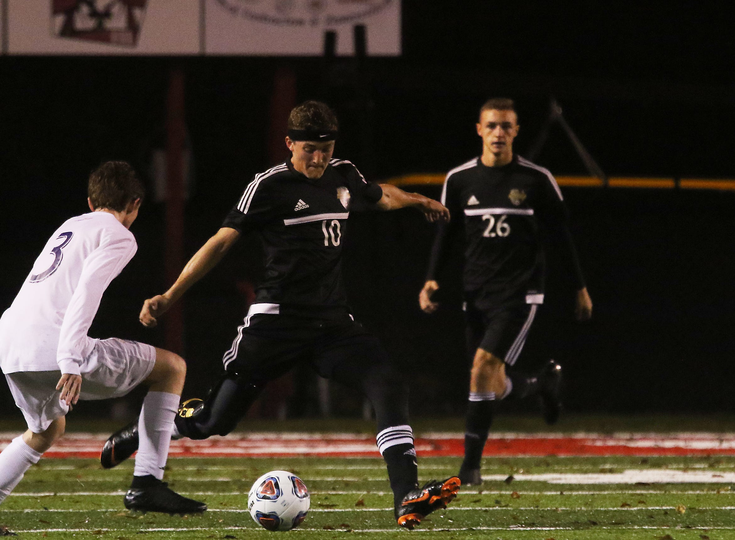 River View's Andrew Martin clears the ball against DeSales.