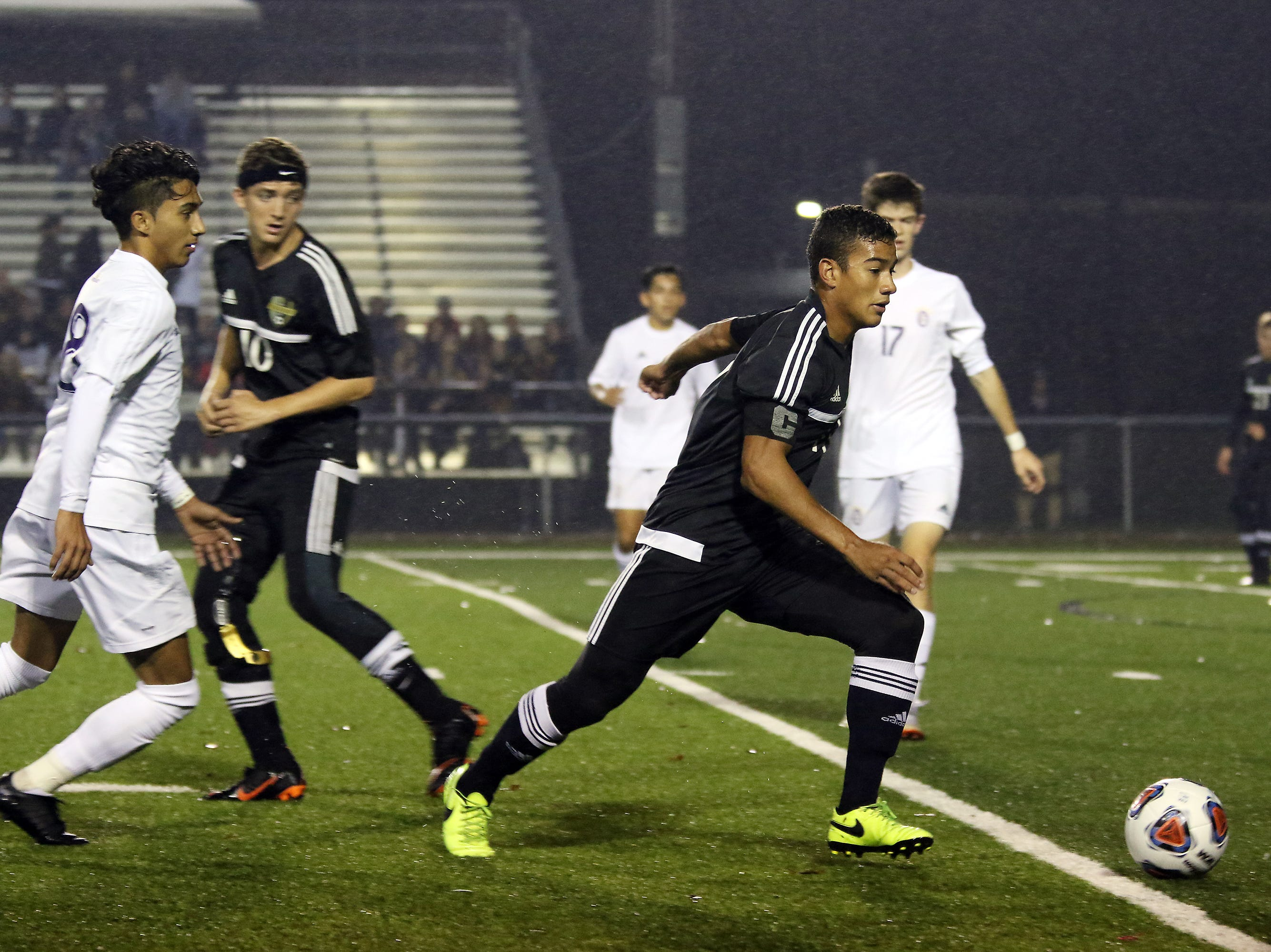 River View's Sean Watts moves with the ball against DeSales.
