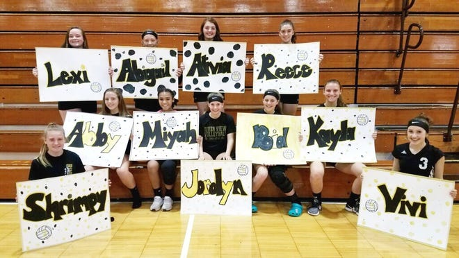 The River View eighth grade volleyball team has lost just once in two years and captured back-to-back East Central Ohio League titles.