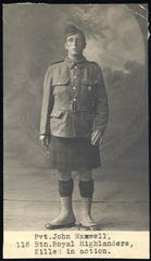 Pvt. John Maxwell of Appanoose County fought with the British forces and was killed in action several months before Merle Hay, thought to be the first Iowan killed in World War I.