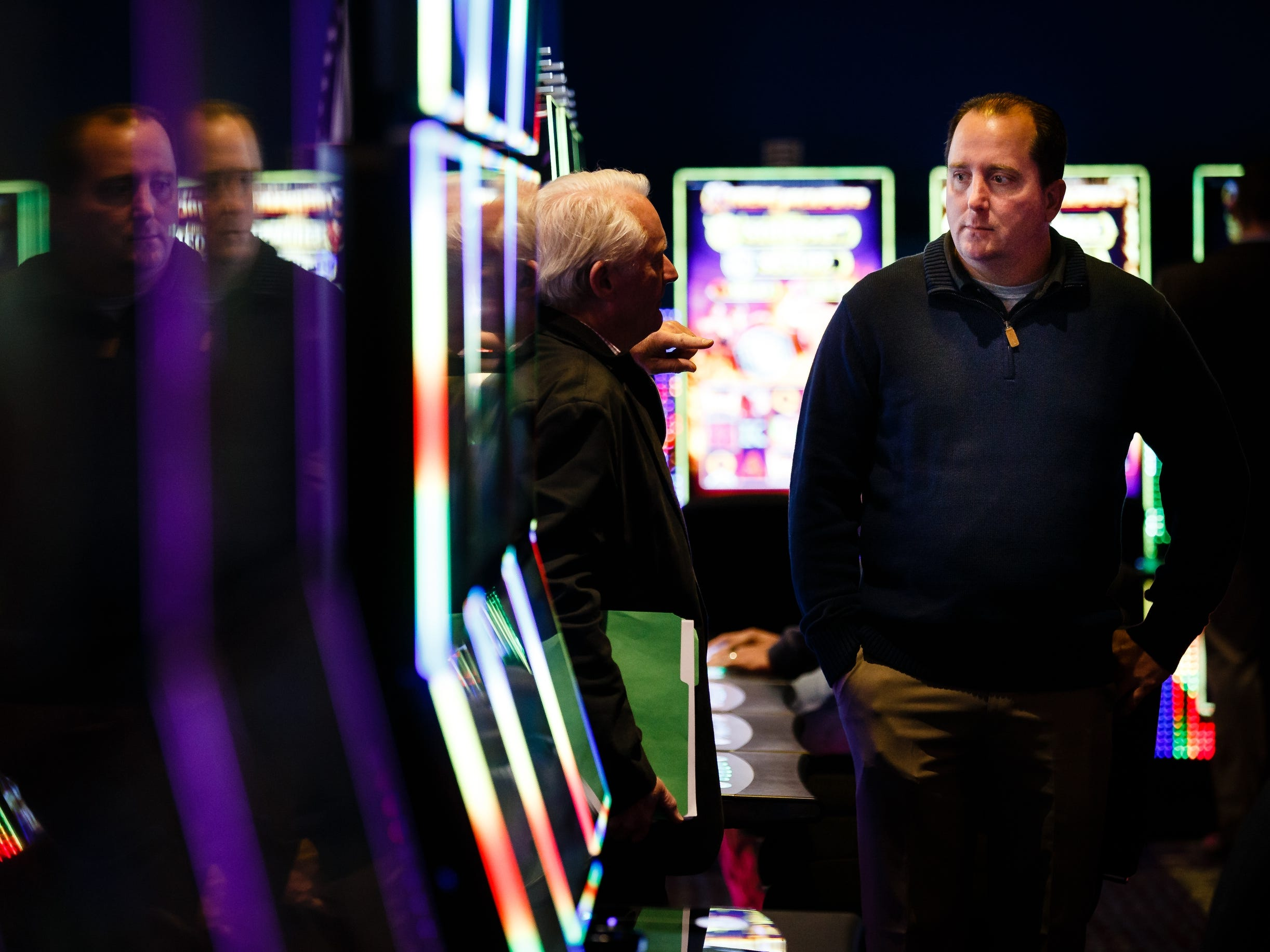 Carter Lake mayor Ron Cumberledge at the grand opening of The Ponca Tribe of Nebraska's Prairie Flower Casino on Thursday, Nov. 1, 2018, in Carter Lake. Both Iowa and Nebraska officials have tried to block the casino in federal court Ð Iowa because of competition with other Iowa casinos and Nebraska because the casino sits just miles away from Omaha where gambling is illegal.