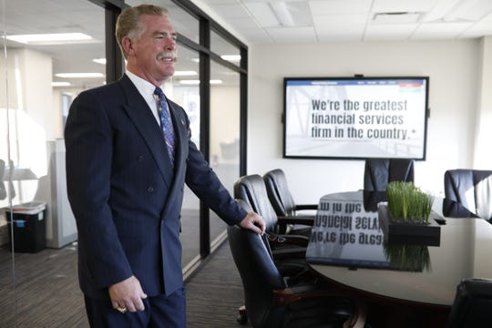 CEO Richard James of Financial Services of America in his conference room in Warren, Mich., Tuesday, Oct.16, 2018.