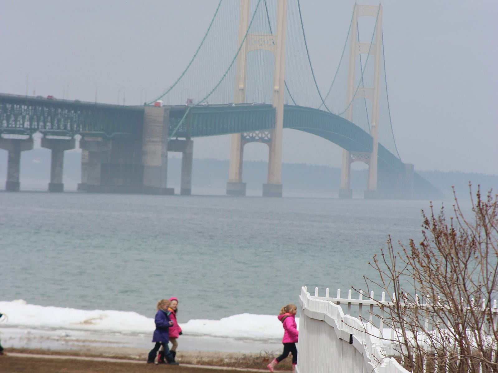 The Mackinac Bridge is show from Mackinaw City in this file photo. High-profile vehicles will need an escort to cross the Mackinac Bridge.