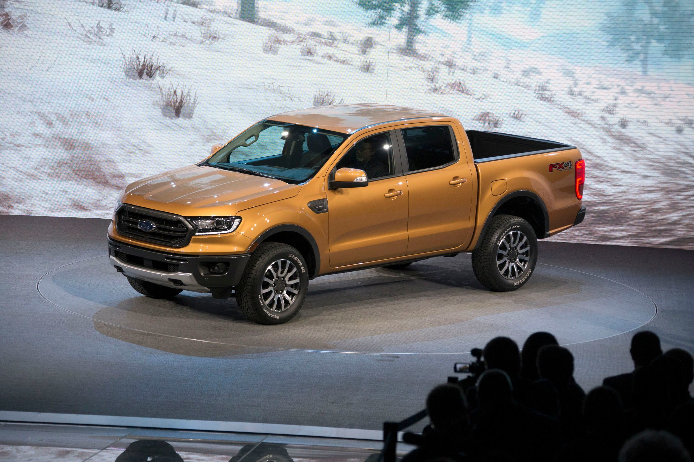 Ford reveals the 2019 Ford Ranger at the North American International Auto Show in Detroit in January 2018.
