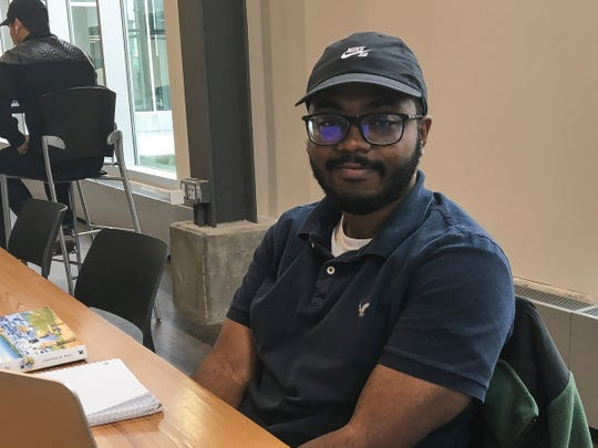 KaJuan Johnson, 24, of Auburn Hills votes mostly straight Democrats. He volunteered a bit for Elissa Slotkin's campaign for Congress in the 8th congressional district.