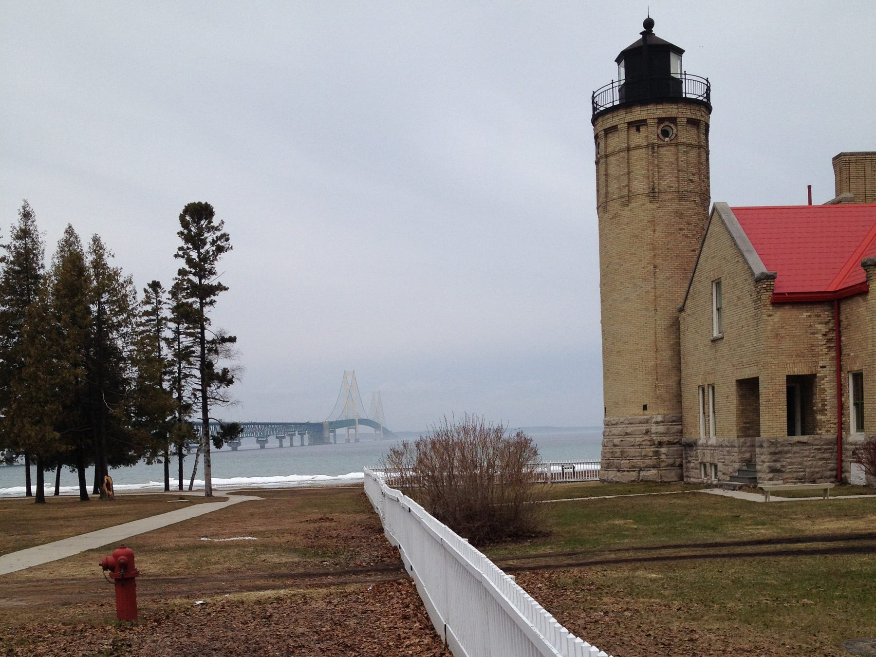 The lighthouse in Mackinaw City in 2014.