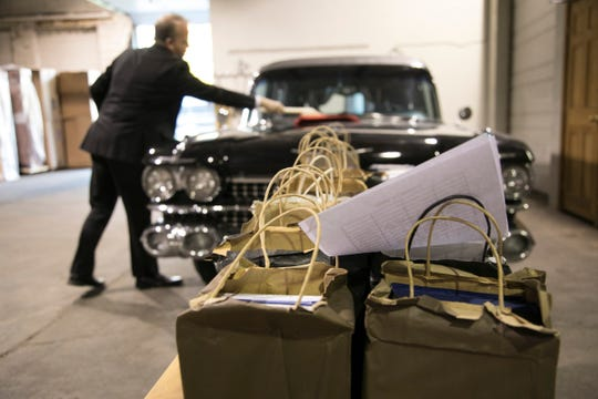 Verheyden Funeral Homes in Grosse Pointe Park traveled to Flint Thursday, Oct. 25, 2018 to procure the ashes of more then 220 people, nearly two dozen of which appear to be military veterans, who were cremated and left behind at Cantrell Funeral Home in Detroit.