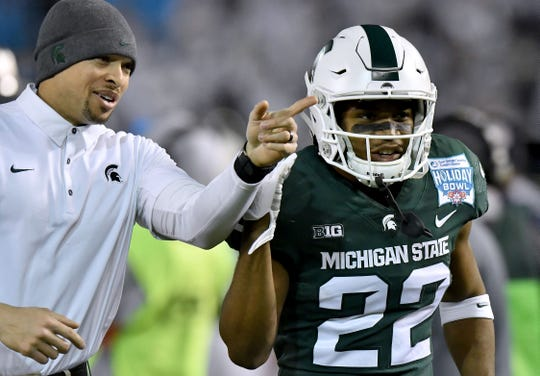 Josiah Scott (22) likely will make his season debut Saturday at Maryland, but expect the Spartans' cornerback to slowly work his way back into the rotation.