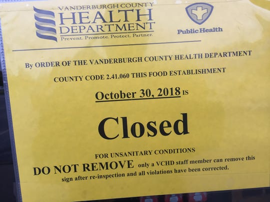 Crazy Buffet II was closed Tuesday, and this sign was posted on the door.