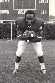 Fremont Ross running back Tom Liggins caught a key touchdown pass in the Little Giants' 28-27 victory over Sandusky in 1969.