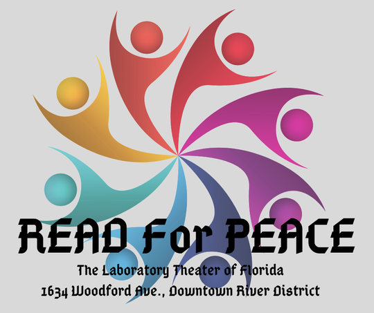 "The logo for Lab Theater's ""Read for Peace"""
