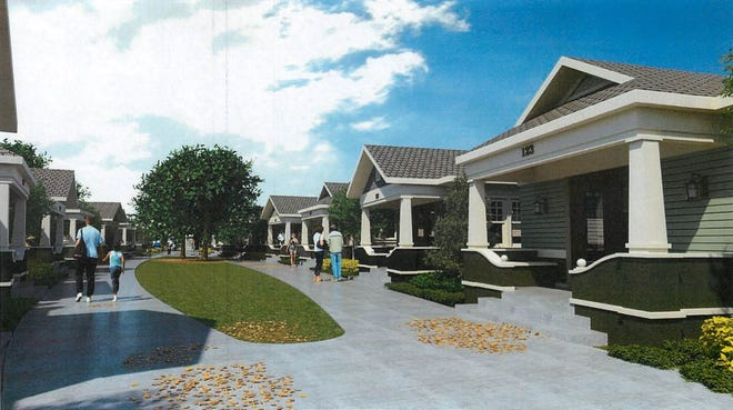 A rendering of a micro cottage development in Lakeland, which was included in the agenda for Cape Coral's Affordable Housing Advisory Committee meeting recently.