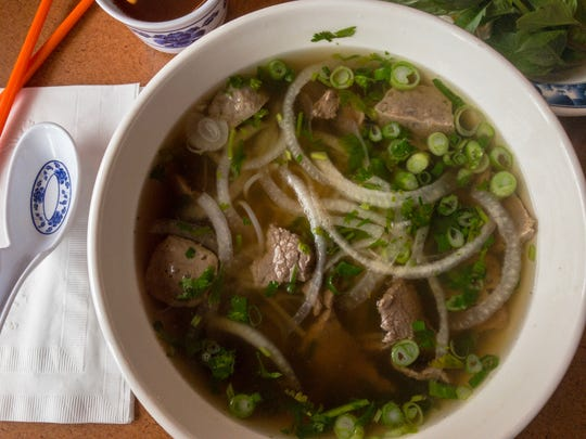 Beef pho at May's Eggrolls in downtown Green Bay is calorieworthy.
