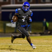 Junior Payton Mangrum has 66 receptions for 795 yards with nine touchdowns for Eastside, which will play at Daniel in the first round of the Class AAAA playoffs Nov. 9.