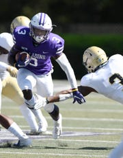 Furman tailback Darius Morehead (3) is averaging 7.6 yards per carry this season.