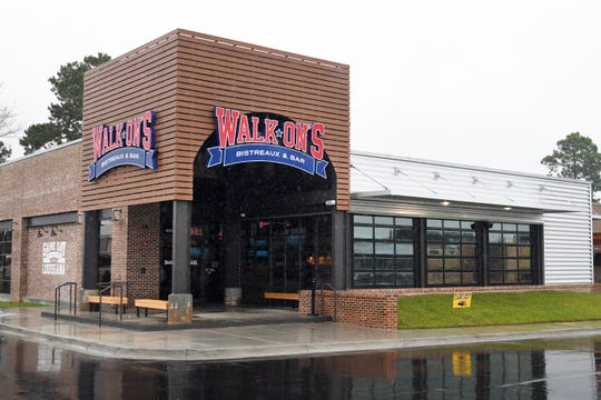 Walk On's Bistreaux and Bar is located on Hardy Street.