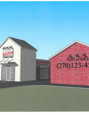 An image showing the exterior of a proposed storage facility on the city's North End, along U.S. 60-East near Balmoral Acres.