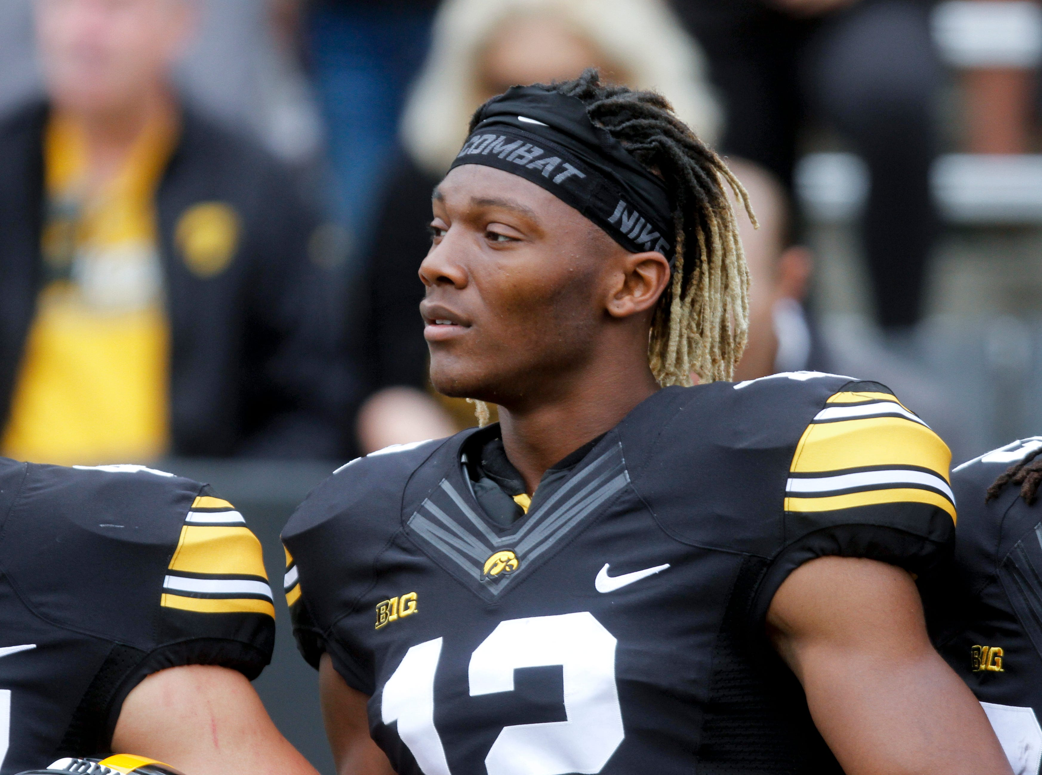 Iowa wide receiver Brandon Smith is more comfortable as a sophomore, which has resulted in a bevy of big catches.