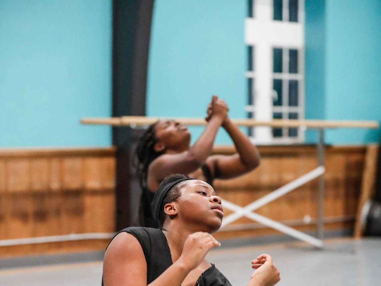 Camryn Bembry practices a dance routine during an Iibada Dance Company class at Broadway United Methodist Church in Indianapolis Ind. on Wednesday, Oct. 31, 2018. The children's nonprofit dance studio teaches cultural enrichment, discipline, and positive self-esteem through the art of dance.