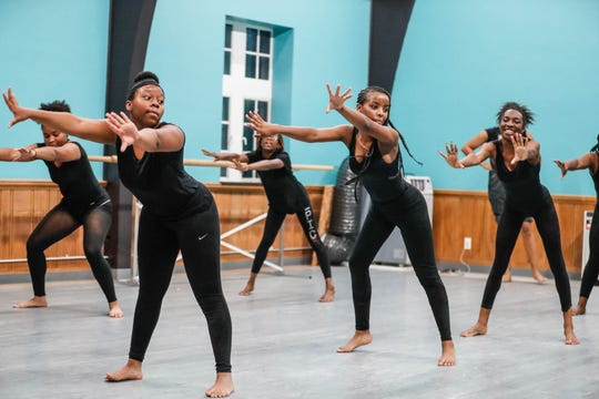 Students practice dance routines during an Iibada Dance Company class at Broadway United Methodist Church in Indianapolis Ind. on Wednesday, Oct. 31, 2018. The children's nonprofit dance studio teaches cultural enrichment, discipline, and positive self-esteem through the art of dance.