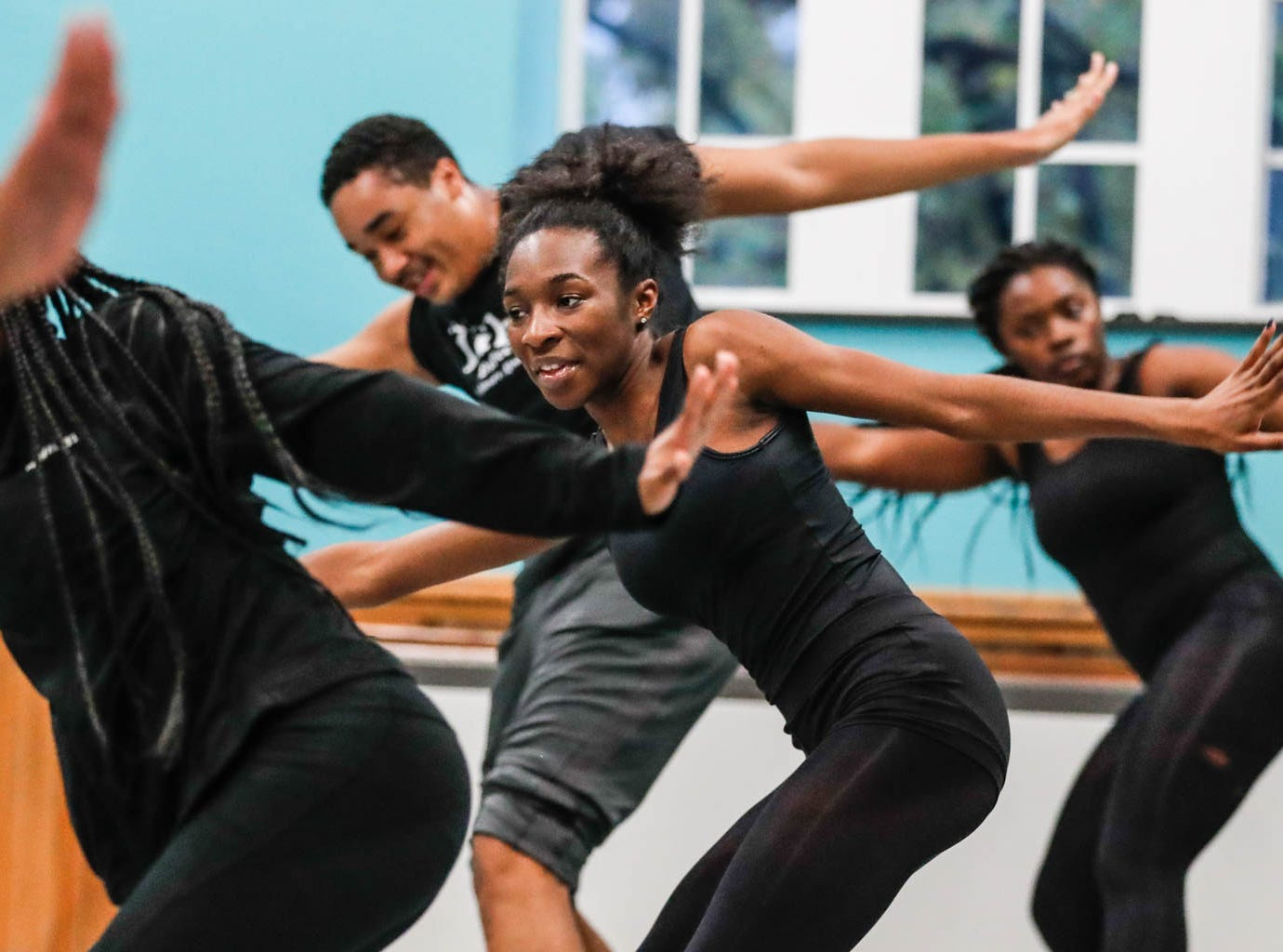 Students practice a dance routine during an Iibada Dance Company class at Broadway United Methodist Church in Indianapolis on Wednesday, Oct. 31, 2018. The children's nonprofit dance studio teaches cultural enrichment, discipline, and positive self-esteem through the art of dance.