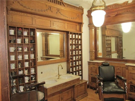 The home's 1890s-era barber shop came from Glen's Barber Shop, which was once located on the 600 block of East New York Street. It's complete with an antique chair and barber's pole near the door.