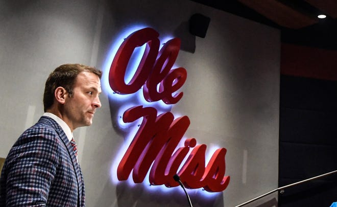 Ole Miss Athletic Director Ross Bjork, shown in this Dec. 1, 2017, file photo, is expected to take the same position with Texas A&M.