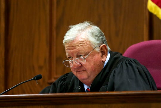 City Court Judge Blake Anderson speaks to those in attendance at the hearing for Keon Stewart at Jackson City Court in Jackson, Tenn., on Thursday, Nov. 1, 2018.