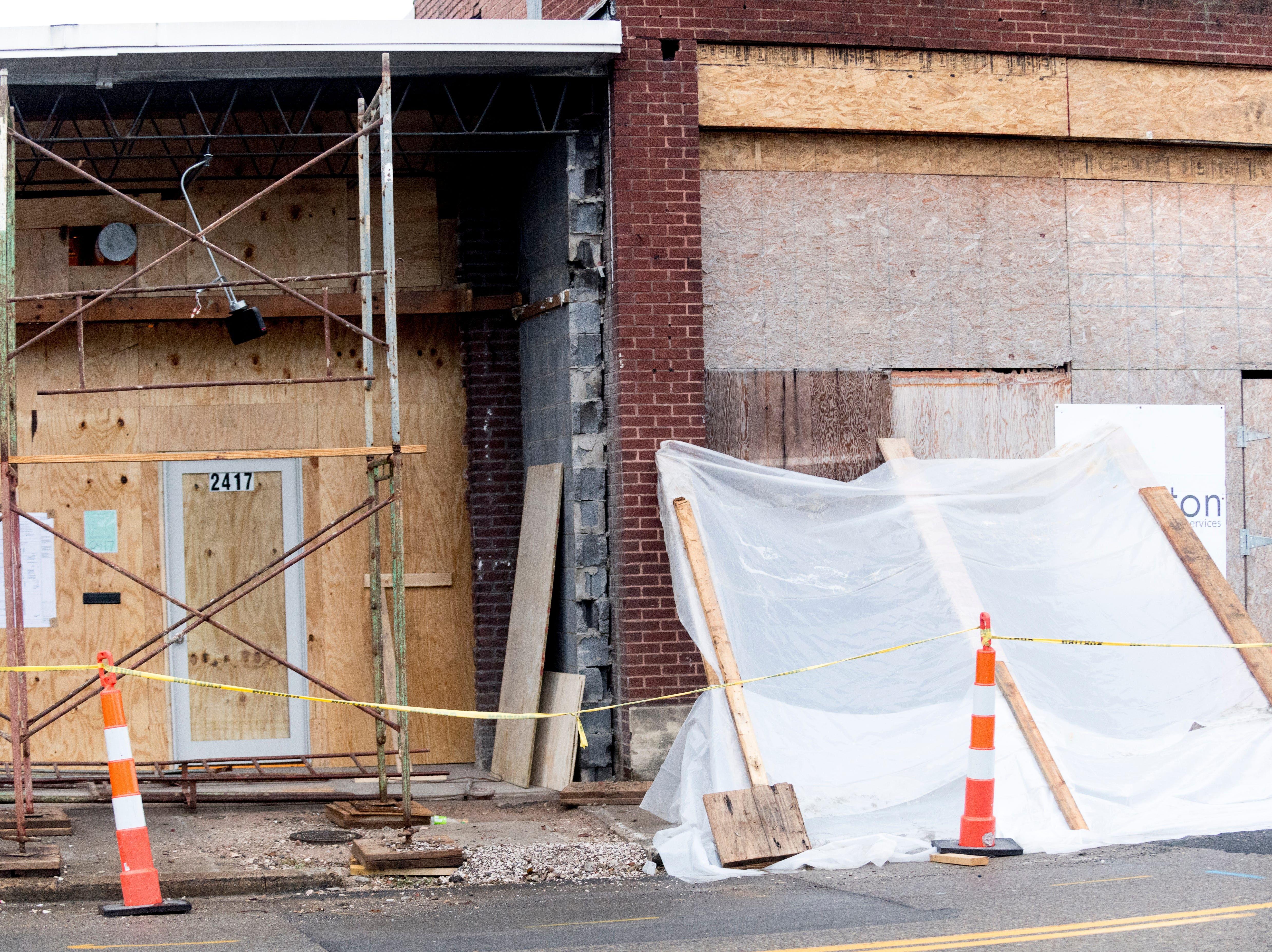 The exterior facade is still under construction at Elst Brewing Company on 2417 N Central St. in Knoxville, Tennessee on Thursday, November 1, 2018. Elst plans to open its door beginning next year.