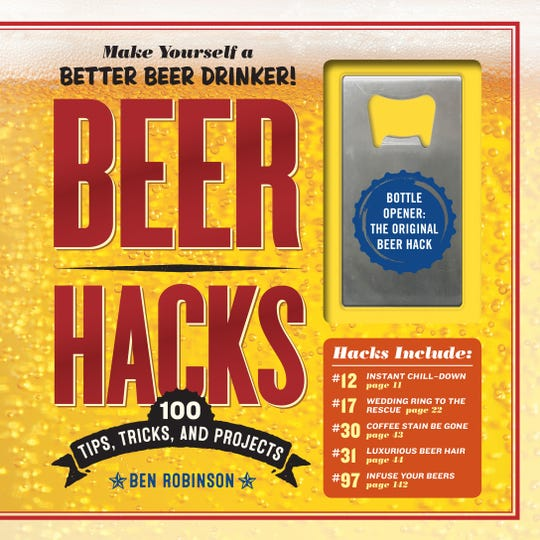 """The """"Beer Hacks"""" book comes with its own bottle opener."""