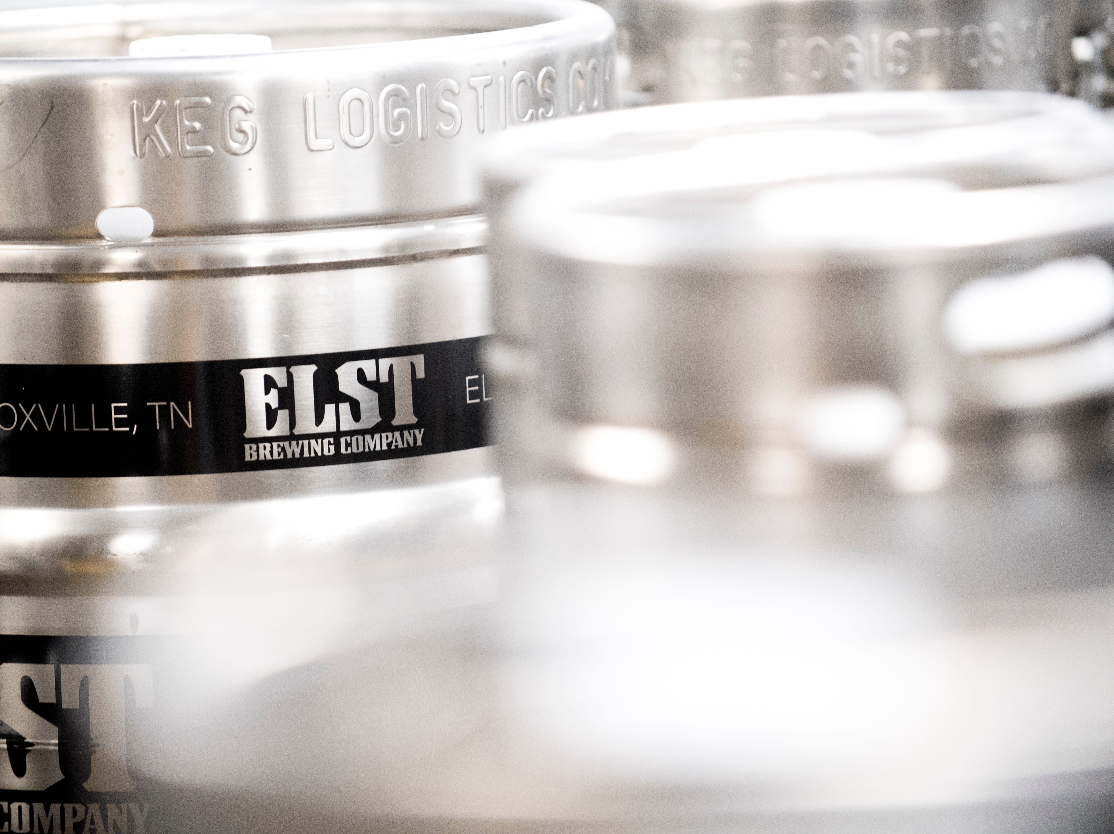 Kegs of Elst beer sit inside the cooler at Elst Brewing Company on 2417 N Central St. in Knoxville, Tennessee on Thursday, November 1, 2018. Elst plans to open its door beginning next year.