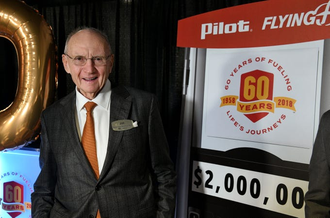 Pilot Flying J Founder Jim Haslam announced a $2 million philanthropic commitment to national and local nonprofit organizations Thursday, November 1, 2018 in celebration of the company's 60th anniversary.