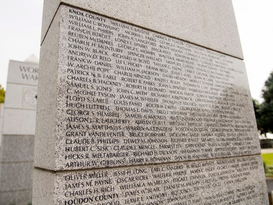 McGhee Tyson's name is listed on the East Tennessee Veterans Memorial at World's Fair Park.