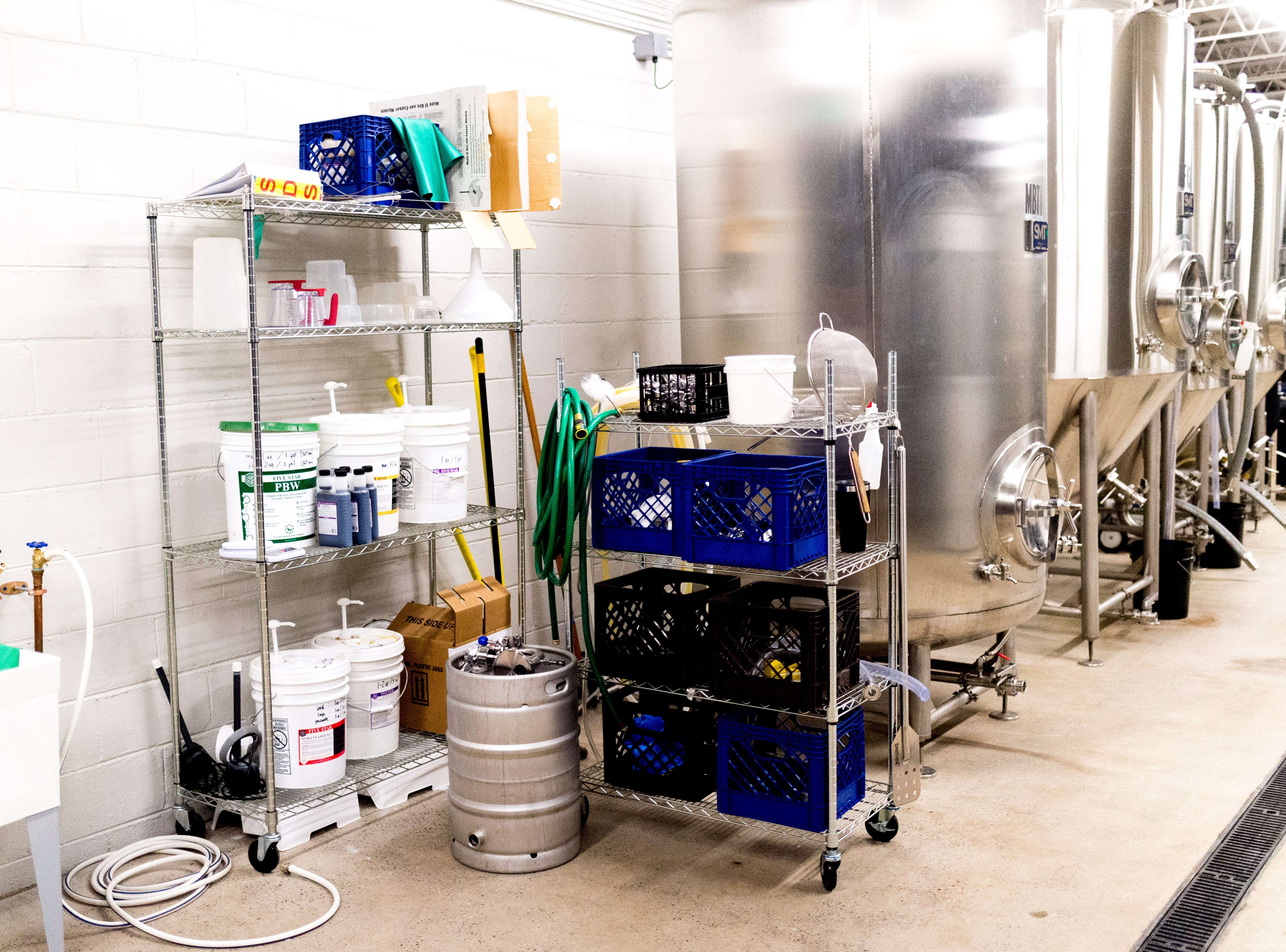 Brewing equipment inside the brewery at Elst Brewing Company on 2417 N Central St. in Knoxville, Tennessee on Thursday, November 1, 2018. Elst plans to open its door beginning next year.
