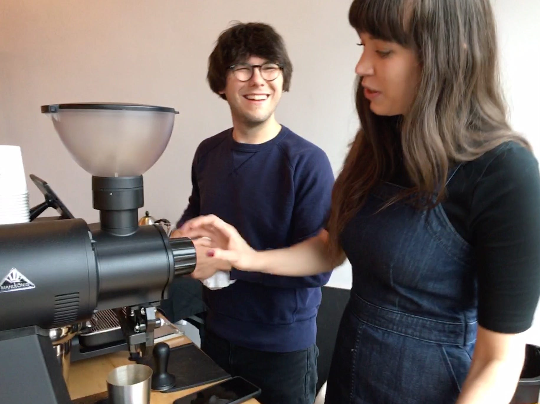"""""""I'd grown up drinking commodity coffee from grocery stores and I didn't like it. But Mark just showed me this whole world of good-tasting coffee,"""" said Lawson."""