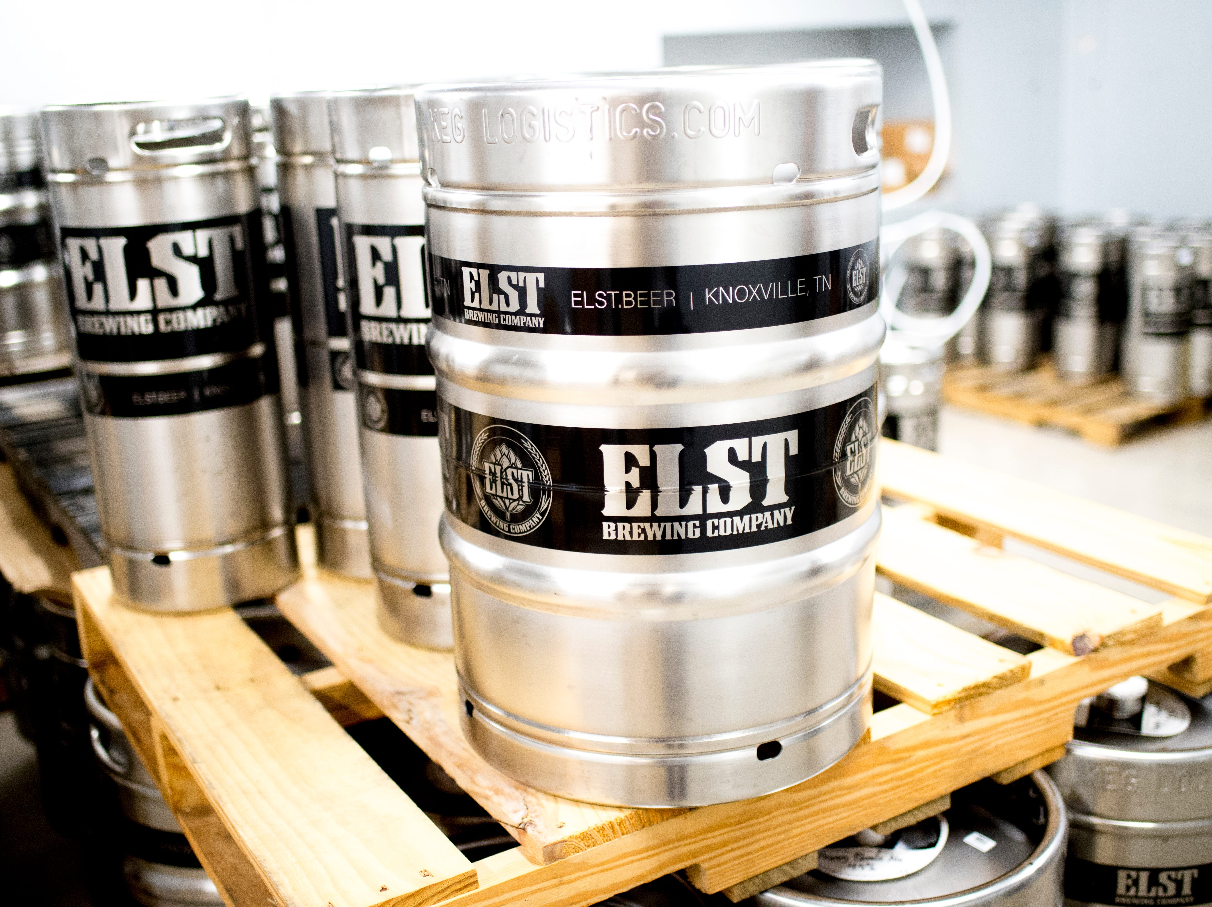 A keg of Elst Beer in the cooler at Elst Brewing Company on 2417 N Central St. in Knoxville, Tennessee on Thursday, November 1, 2018. Elst plans to open its door beginning next year.