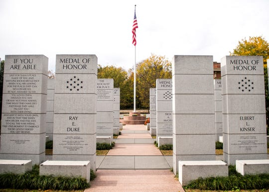 The names of 1,089 WWI fallen from 35 East Tennessee counties are listed at the East Tennessee Veterans Memorial at World's Fair Park. Of those, 140 names are of Knox County men.