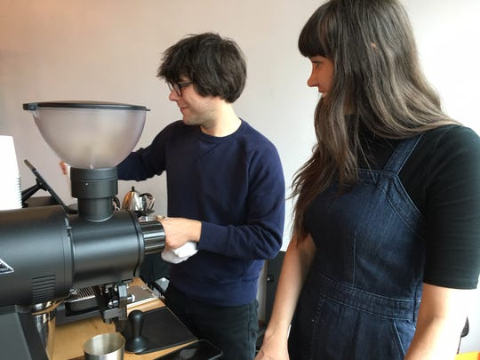 Mark Lilly and Kendell Lawson are the owner/operators of Highline Coffee. They've turned former coffee haters around with their specialized, handcrafted brews. October 28, 2018.