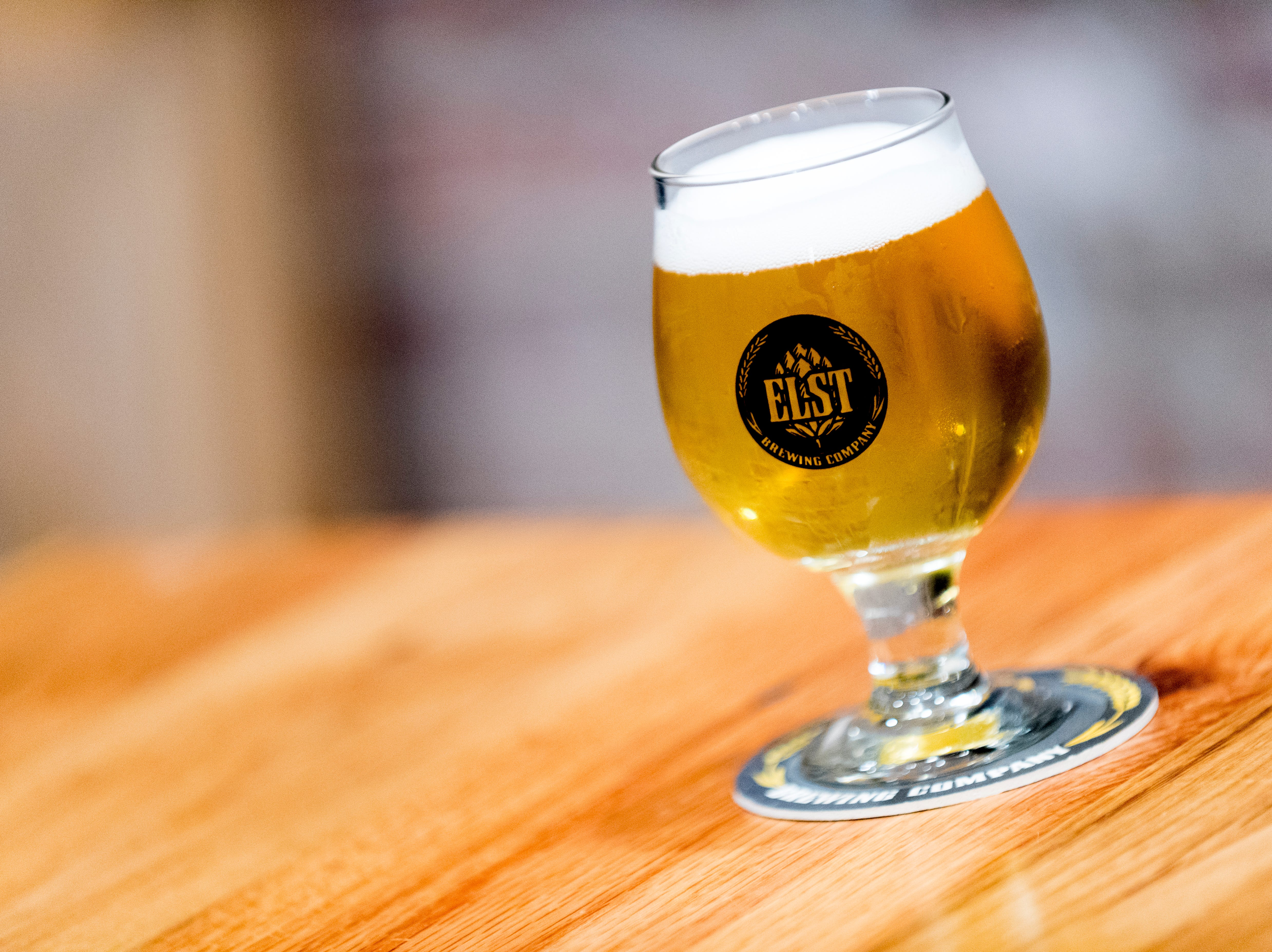 A goblet of Elst Blonde Ale at Elst Brewing Company on 2417 N Central St. in Knoxville, Tennessee on Thursday, November 1, 2018. Elst plans to open its door beginning next year.