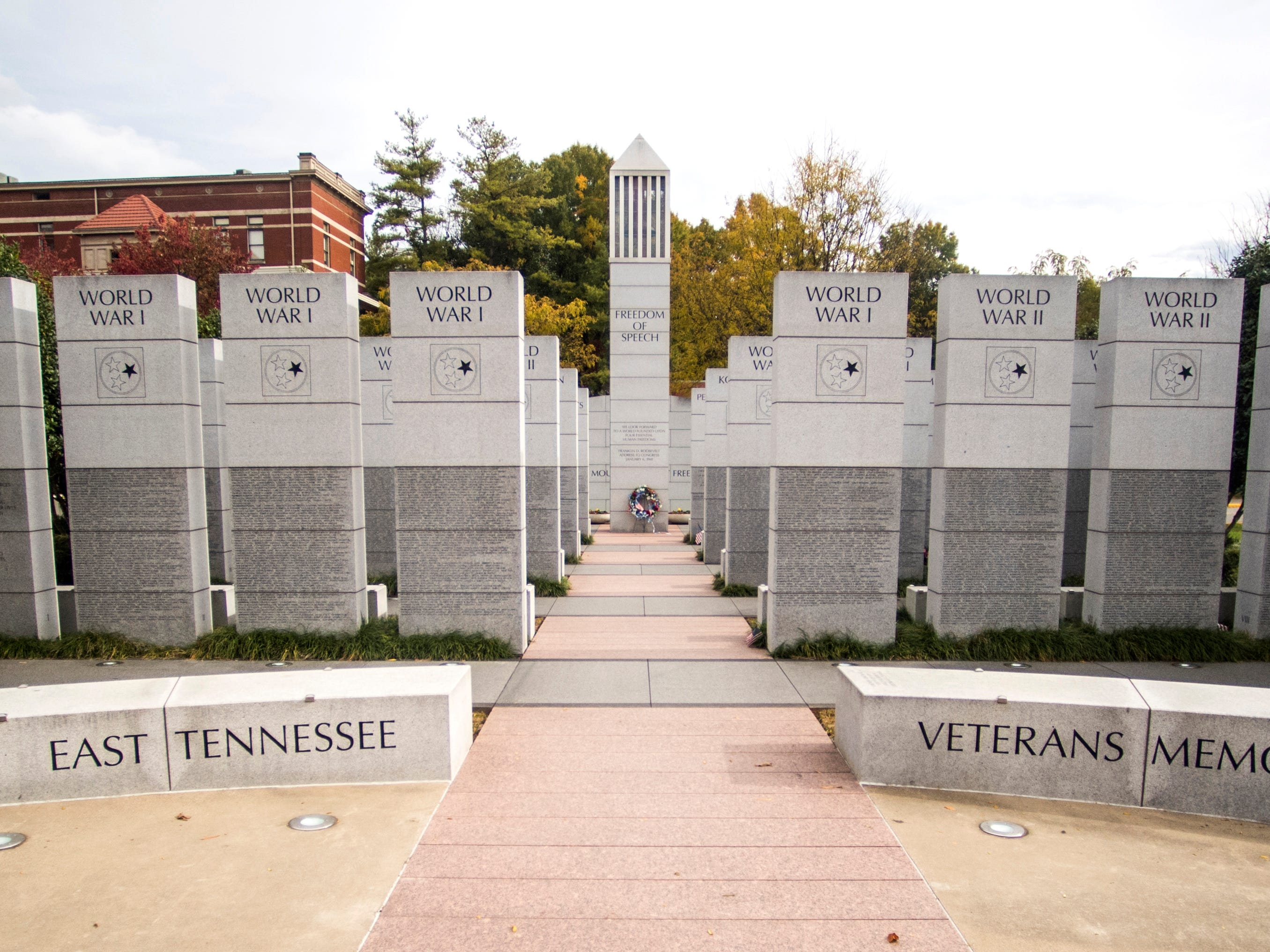 The East Tennessee Veterans Memorial located in downtown Knoxville on Thursday, November 1, 2018.