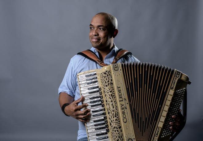 "Corey Ledet, aka ""The Accordion Dragon,"" shares music and conversation Nov. 15 at Acadiana Roots."