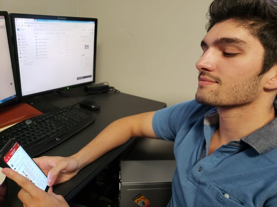 Nicholas Bohall, 24, an LSU graduate student, said playing fantasy sports is one of his favorite pastimes.