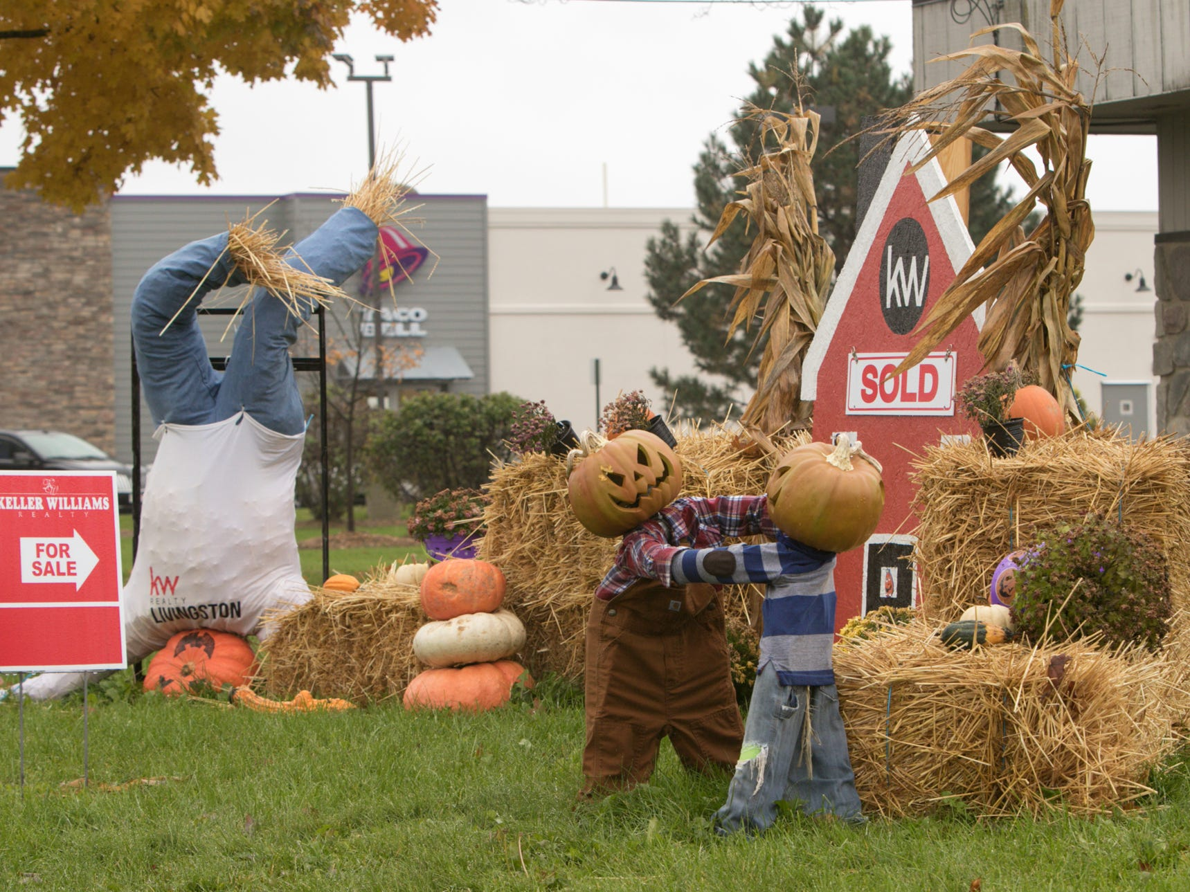 Keller Williams Realty, shown Wednesday, Oct. 31, 2018, took second place in the Scarecrows Across the 'Ville contest.