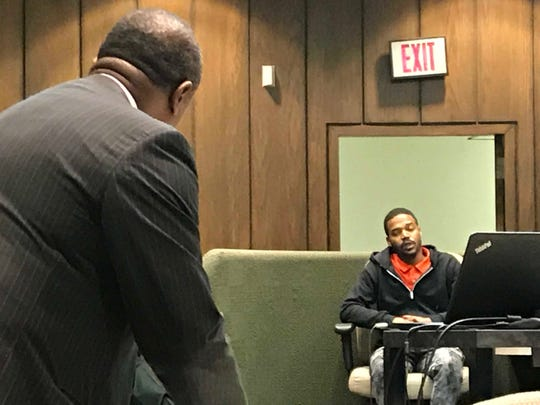 Desric Ivory testifies about being carjacked by Tremaine Wilbourn shortly after Wilbourn fatally shot Memphis police officer Sean Bolton in 2015.