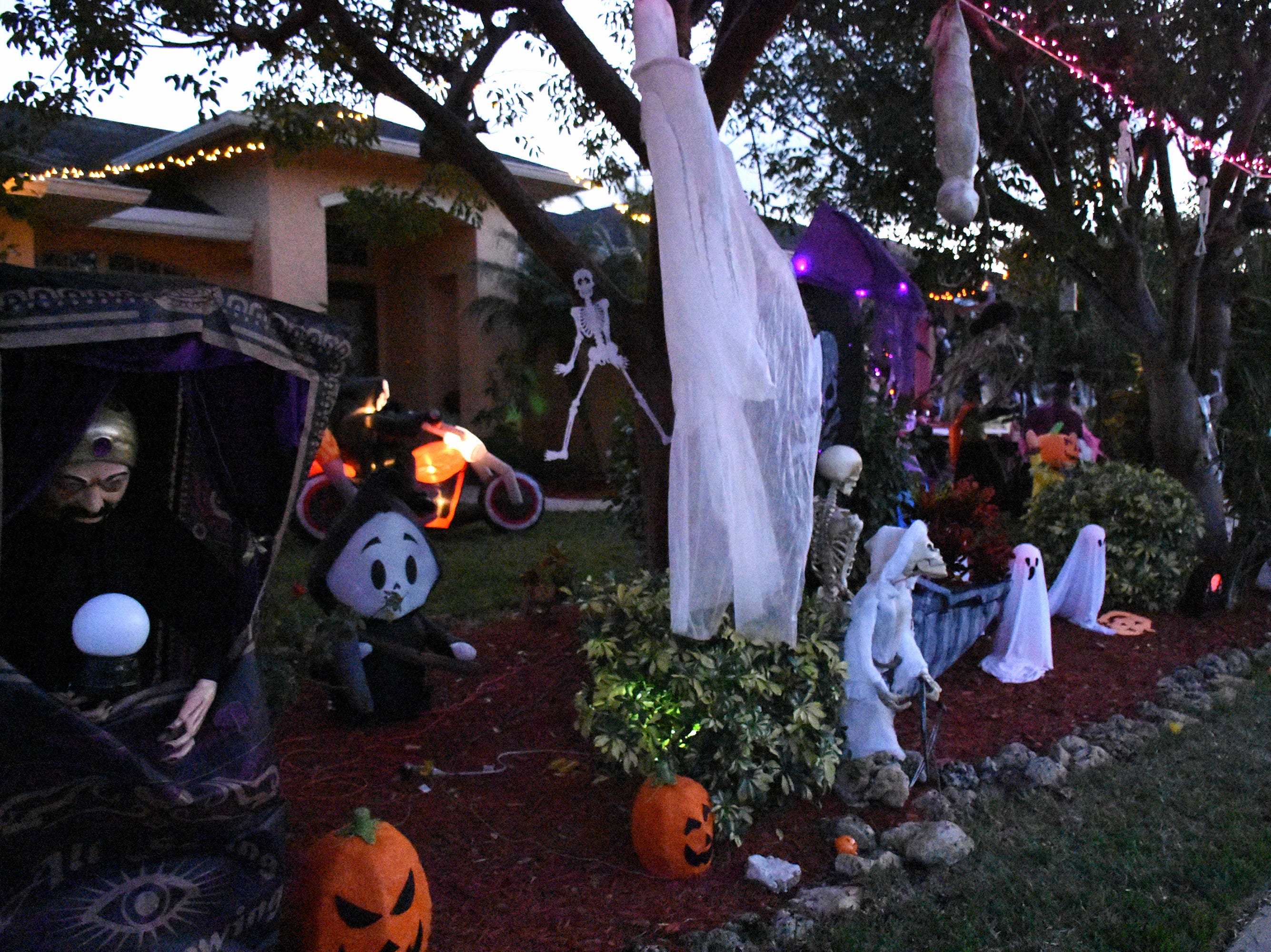 Some homeowners go all-out in decorating. Wednesday evening, in a decades-old tradition, the streets around Tommie Barfield Elementary turned into a trick or treatin' block party.