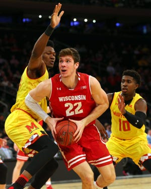 Wisconsin forward Ethan Happ led the Badgers in almost every major statistical category as a junior last season.