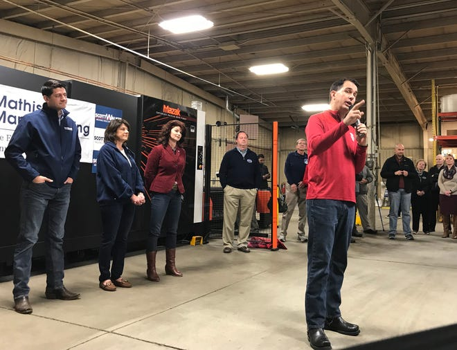 Gov. Scott Walker is shown during a 2018 campaign stop in Waukesha.