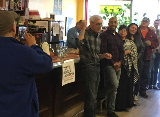 Tony Evers and Mandela Barnes, the Democratic candidates for governor and lieutenant governor,  rallied voters Thursday at the Natural Connection coffee shop in Tomah.  Tony Evers, the state school superintendent and Democratic candidate for governor, is touring Wisconsin in a school bus to emphasize his support for public education.
